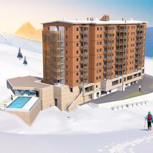 Résidence Club MMV l'Etoile des Sybelles - voordeeltarief Samen met het naastgelegen La Toussuirevormt Le Corbier het middelpunt van het skigebied Les Sybelles. Le Corbier is een functioneel skistation